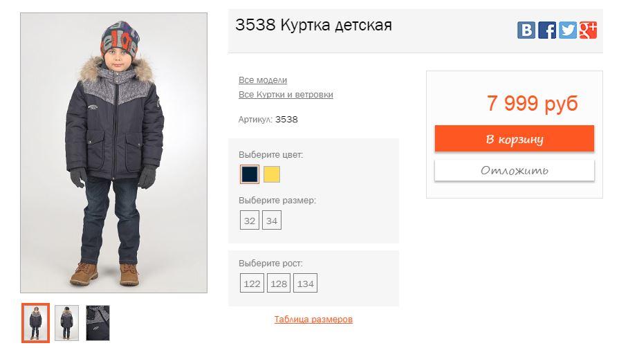 Отчет для спонсоров о куртке